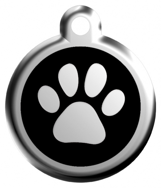 Middle stamp - paw black