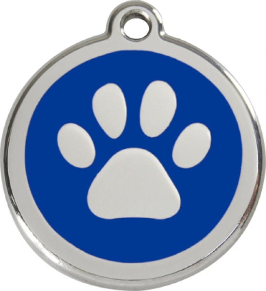 Middle stamp - paw blue