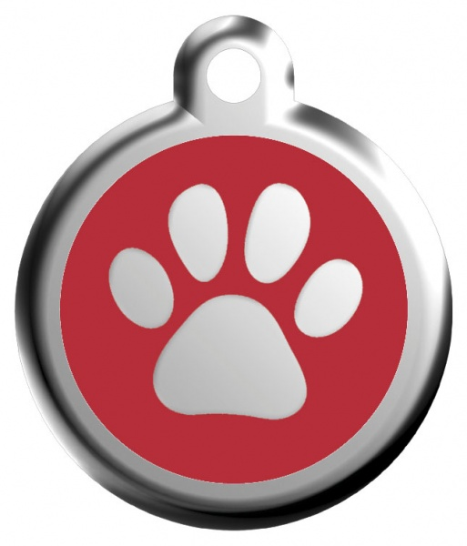 Middle stamp - paw red